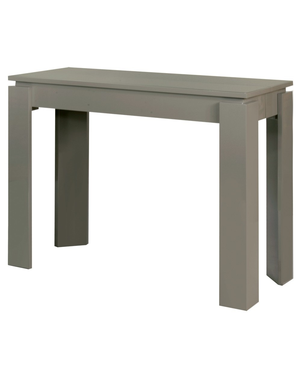 Table console extensible bois ou laque tetris jusqu a 18 for Table extensible 18 couverts