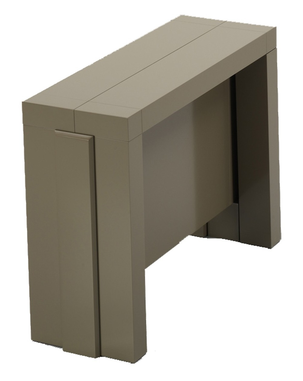 Console extensible integrable avec allonges integrees for Table extensible 80 cm de large