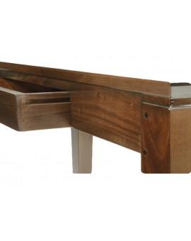 Détail assemblage du tiroir en queue d'aronde et structure chevillée.