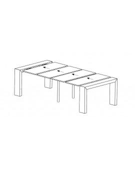 Système de pied de soutien amovibles centrés pour ne pas gêner les chaises.
